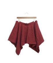 blackmeans(ブラックミーンズ)の古着「ウールショートスカート」|エンジ