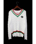 Supreme×LACOSTE(シュプリーム×ラコステ)の古着「Teniss Sweater/テニスセーター」|ホワイト