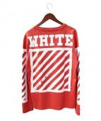 OFF WHITE(オフホワイト)の古着「スリーブプリントTシャツ」|レッド