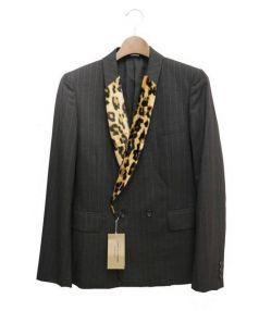 COMME des GARCONS(コムデギャルソン)の古着「フェイクファーレオパードジャケット」|グレー