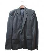 KRIS VAN ASSCHE(クリス ヴァン アッシュ)の古着「ストライプテーラードジャケット」 ダークグリーン