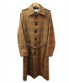 SAINT LAURENT PARIS(サンローラン パリ)の古着「16AW/クルミボタンコート」 ブラウン