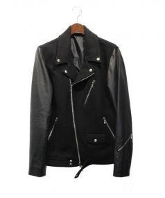 uniforme experiment(ユニフォーム エクスペリメント)の古着「袖レザーライダースジャケット」|ブラック