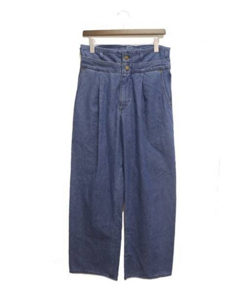 69(シックスティーナイン)69 (シックスティーナイン) レイヤードデニムパンツ インディゴ サイズ:Mの古着・服飾アイテム