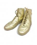 COMMON PROJECTS(コモンプロジェクツ)の古着「メタリックスニーカー」|ゴールド
