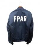 FPAR(フォーティーパーセンツ アゲインストライツ)の古着「ボンバージャケット」 ネイビー