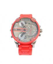 DIESEL(ディーゼル)の古着「腕時計」|レッド