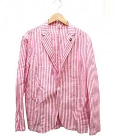giannetta(ジャンネット)の古着「テーラードジャケット」 ピンク