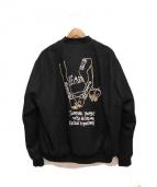 SELF MADE(セルフメイド)の古着「ボンバージャケット」 ブラック