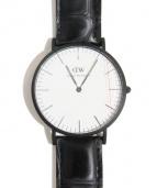 Daniel Wellington(ダニエルウェリントン)の古着「×BEAMS腕時計」|ホワイト(文字盤)