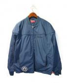 SUPREME(シュプリーム)の古着「poplin crew jacket」|ネイビー