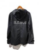 B.S.M.G(ベイサイドモーターギア)の古着「プルオーバーフーデッドシャツ」|ブラック