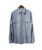 BUTCHER PRODUCTS(ブッチャー プロダクツ)の古着「シャンブレーシャツ」 インディゴ