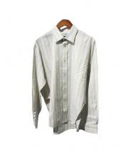 BALENCIAGA(バレンシアガ)の古着「ストライプシャツ」|ベージュ