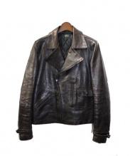 Rags McGREGOR(ラグス マクレガー)の古着「ダブルライダースレザージャケット」|ブラウン