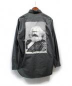 PEEL&LIFT(ピールアンドリフト)の古着「マルクスパッチシャツ」 グレー