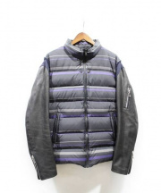 UNDERCOVER(アンダーカバー)の古着「袖レザーダウンジャケット」 ブラック