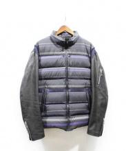 UNDERCOVER(アンダーカバー)の古着「袖レザーダウンジャケット」|ブラック