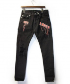 MR.COMPLETELY(ミスターコンプリートリー)の古着「デニムパンツ」|ブラック