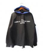 Supreme×COMME des GARCONS SHIRT(シュプリーム × コムデギャルソンシャツ)の古着「パーカー」 ブラック