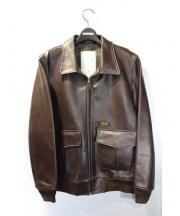 NEIGHBORHOOD(ネイバーフッド)の古着「A-2レザージャケット」|ブラウン