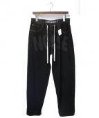 LIAM HODGES(リアムホッジス)の古着「18SS デニムパンツ」 ブラック