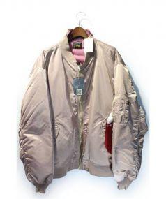 VETEMENTS×Alpha(ヴェトモンxアルファ)の古着「17AW/再構築MA-1ジャケット」|ライトピンク