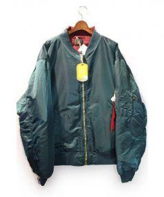 VETEMENTSx Alpha(ヴェトモン×アルファ)の古着「再構築MA-1ジャケット」|グリーン