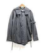 CRAIG GREEN(クレイグ グリーン)の古着「ベルテッドフーデッドシャツ」|ブラック
