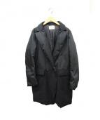 BEIGE(ベイジ)の古着「切替ダウンコート」|ブラック