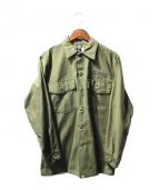 FPAR(フォーティーパーセンツ アゲインストライツ)の古着「刺繍ミリタリージャケット」 オリーブ