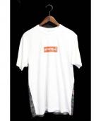 Supreme×COMME des GARCONS SHIRT(シュプリーム×コムデギャルソンシャツ)の古着「BOXロゴTシャツ」|ホワイト