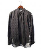 Supreme×COMME des GARCONS SHIRT(シュプリーム × コムデギャルソンシャツ)の古着「ストライプドットシャツ」 ブラック
