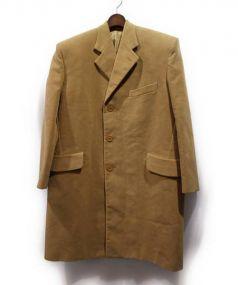 BALENCIAGA(バレンシアガ)の古着「パワーショルダーチェスターコート」|ベージュ