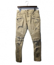 BALMAIN(バルマン)の古着「BEIGE CAMOUFLAGE PRINTED PANTS」|カーキ