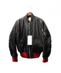 Calvin Klein(カルバンクライン)の古着「17AW ラムファーボンバージャケット」|ブラック