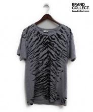 SAINT LAURENT PARIS(サンローラン パリ)の古着「ゼブラ柄Tシャツ」|グレー