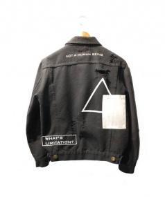 C2H4(シーツーエイチフォー)の古着「デニムジャケット」 ブラック