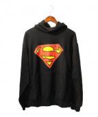 A BATHING APE x DC Comics(ア ベイシング エイプ x ディーシーコミックス)の古着「スーパーマンパーカー」|ブラック