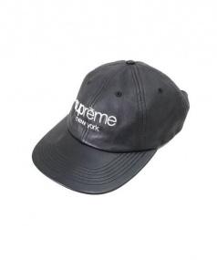 SUPREME(シュプリーム)の古着「 Leather Classic Logo 6-Panel」|ブラック