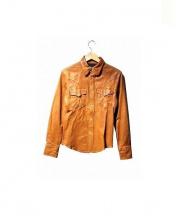 SHADE by SHELLAC(シェイドバイシェラック)の古着「レザーシャツ」|キャメル