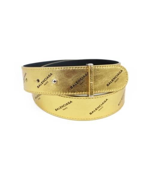 newest da8f6 4544f [中古]BALENCIAGA(バレンシアガ)のメンズ 服飾小物 ロゴパターンゴールドベルト
