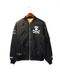 AAPE BY A BATHING APE(エーエイプ バイ ア ベイシング エイプ)の古着「AAPE QUILETED BOMBER JACKET」 ブラック
