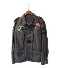 TMT(ティーエムティー)の古着「ビッグホリデイ ミリタリージャケット」|グレー
