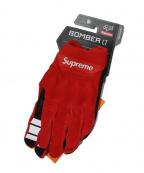 SUPREME x Fox Racing(シュプリーム x フォックスレーシング)の古着「18SS Bomber LT Gloves」 レッド