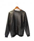ENNOIR(アン ノアール)の古着「レザープルオーバー」|ブラック