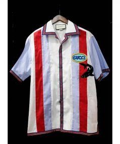 GUCCI(グッチ)の古着「18AW シャークボーリングシャツ」|ホワイト