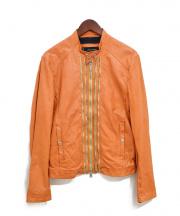 DSQUARED2(ディースクエアード)の古着「ジップデザインレザージャケット」