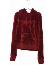 PUMA×Rihanna(プーマ×リアーナ)の古着「ベルベットショートパーカー」|バーガンディー