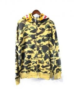 A BATHING APE(ア ベイシング エイプ)の古着「1ST CAMO TIGER FULL ZIP HOODIE」|イエロー